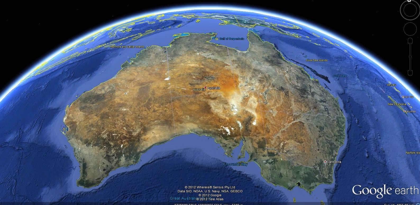 Australia Earth Map for Cairns Australia Map Google Earth