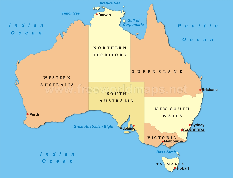 Picture of: Bass Strait Australia Map Australia Map