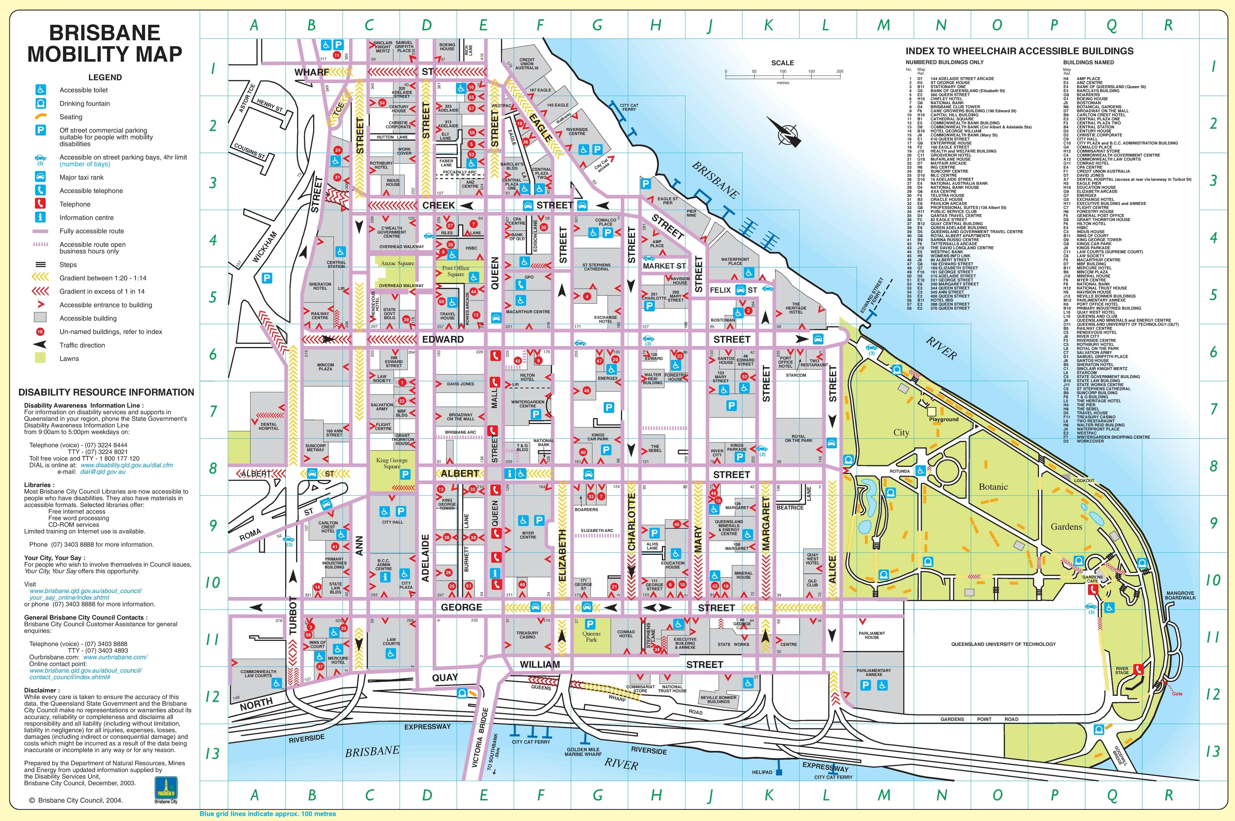 Brisbane City Center Map for Brisbane Australia Map City