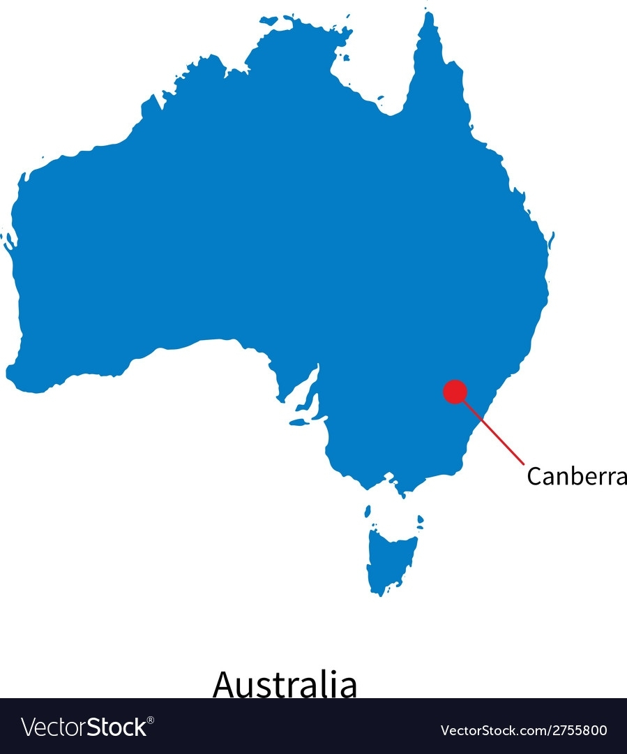 Detailed Map Of Australia And Capital City with Capital Of Australia Map