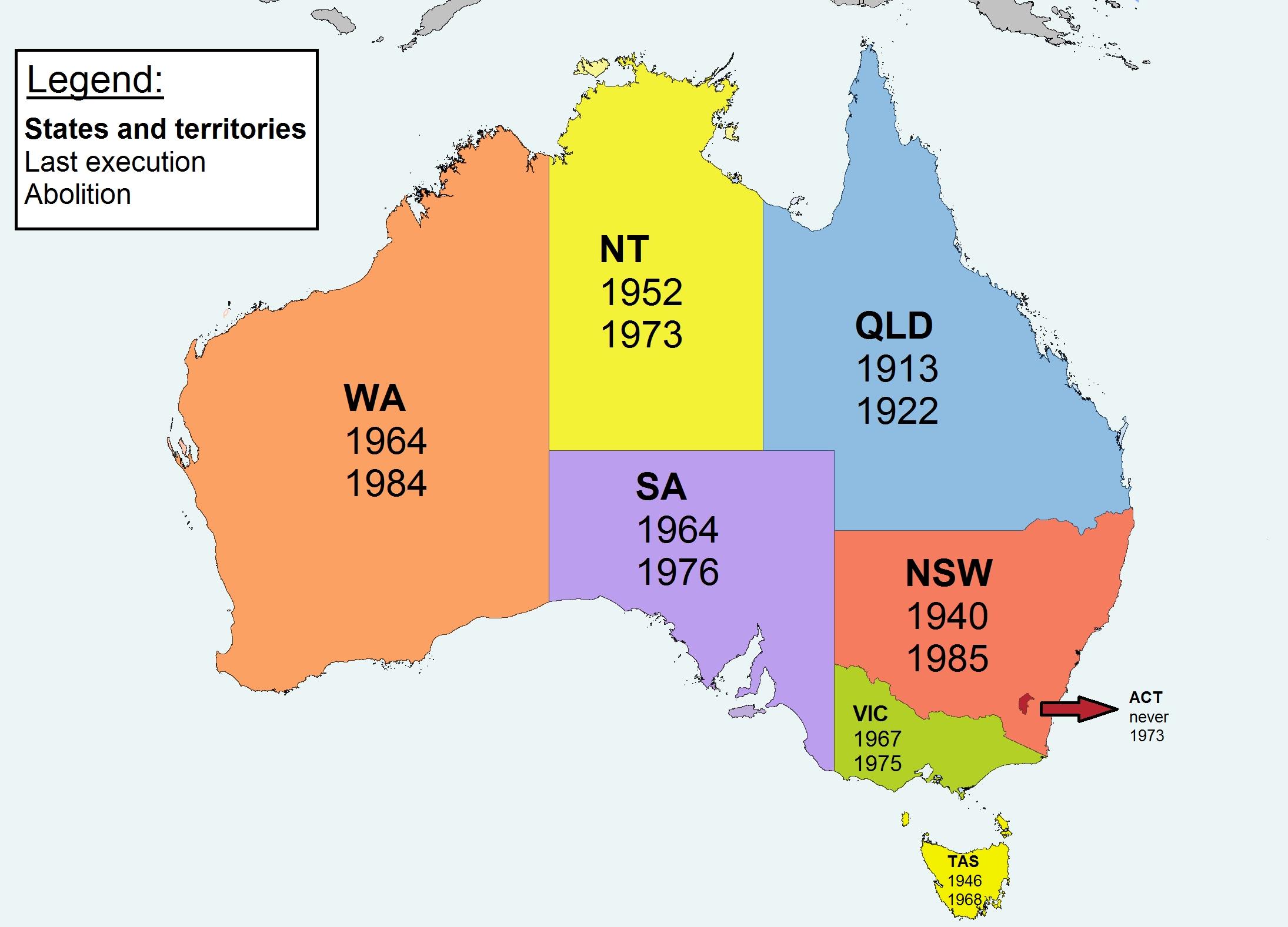 Capital Of Australia Map Australia Map