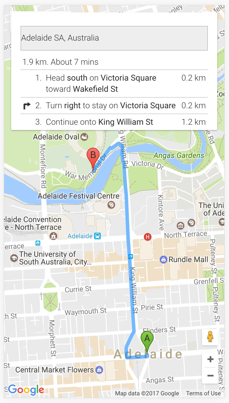 Implementing Turnturn Navigation With Google Maps In with Google Maps Adelaide Sa