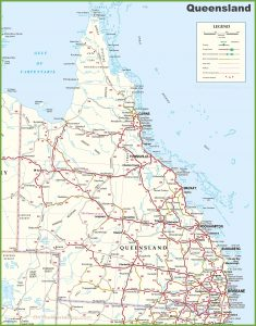 Large Detailed Map Of Queensland With Cities And Towns regarding Cities In Queensland Australia Map