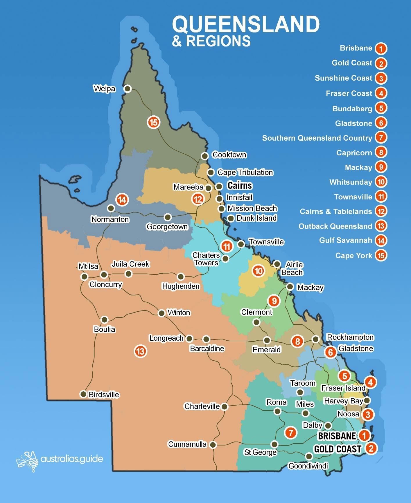 Map Of Queensland | Queensland - Australia's Guide pertaining to Cairns Australia Map Google Earth