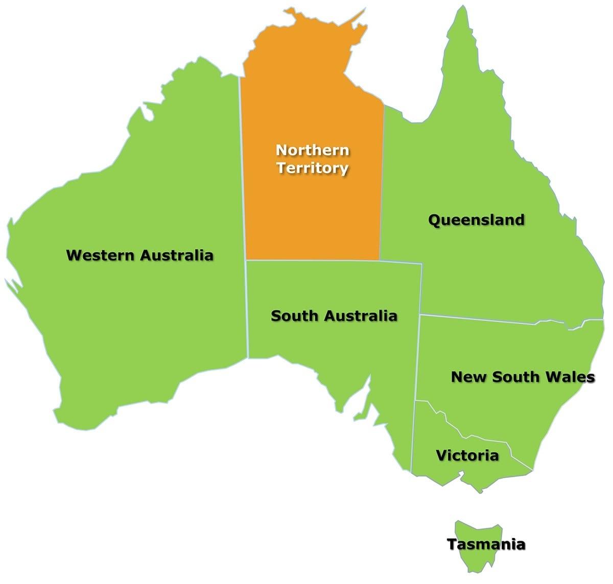 Northern Territory - Citrus Australia for Northern Territory Map Australia