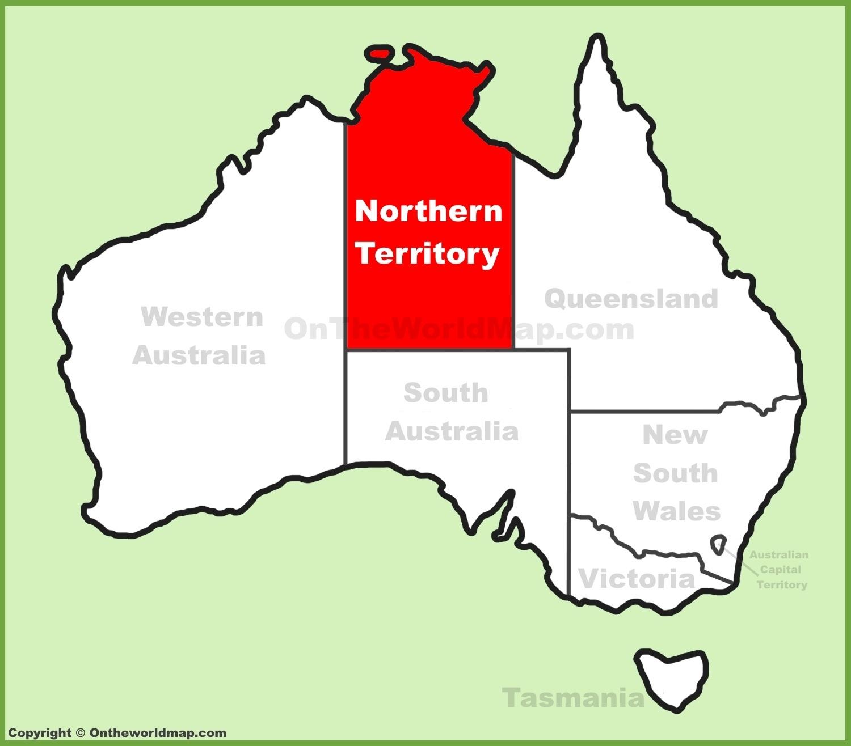 Northern Territory Maps   Australia   Maps Of Northern in Northern Territory Map Australia