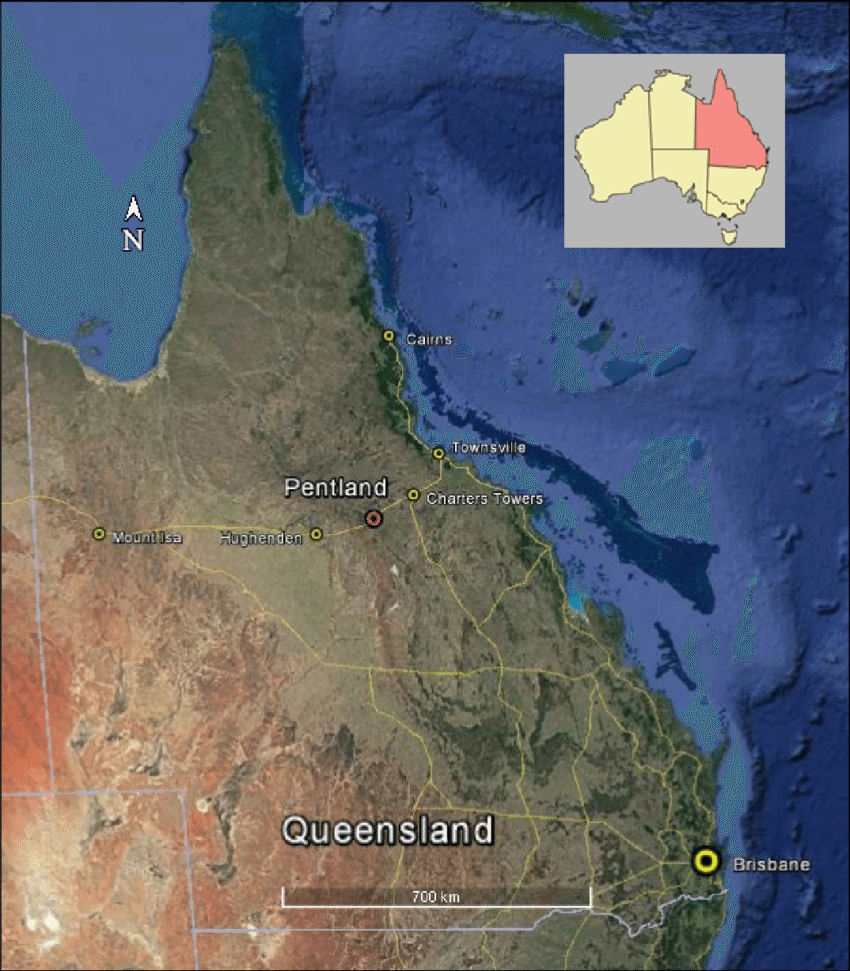 Overview Map Of Queensland, Indicating Location Of Study regarding Cairns Australia Map Google Earth