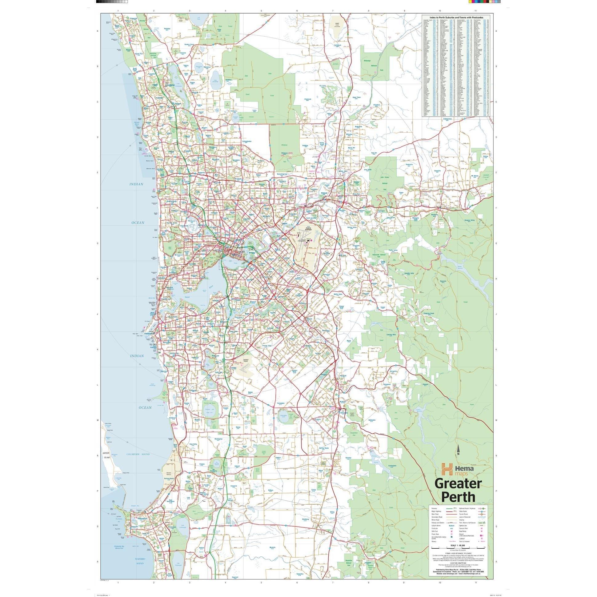 Perth, Australia Regional Wall Map with regard to Map Of Perth Australia Suburbs