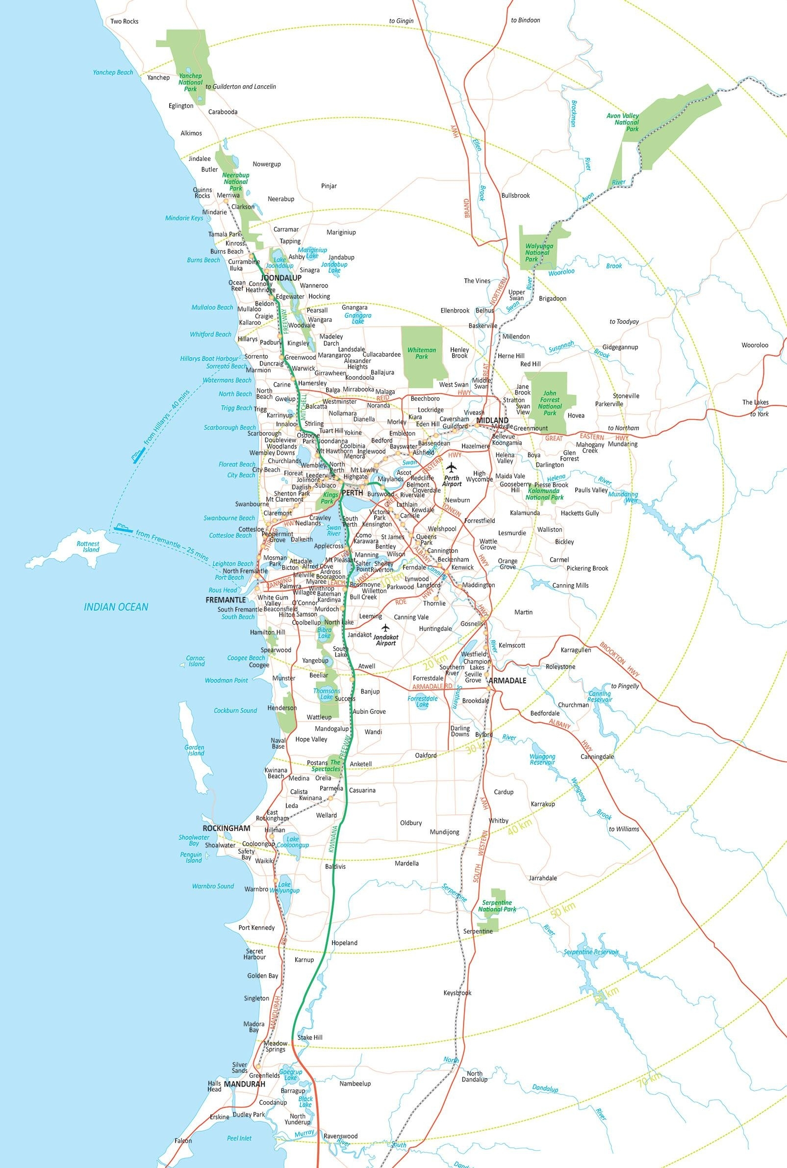 Perth Map Suburbs - Map Of Perth Suburbs (Australia) pertaining to Map Of Perth Australia Suburbs
