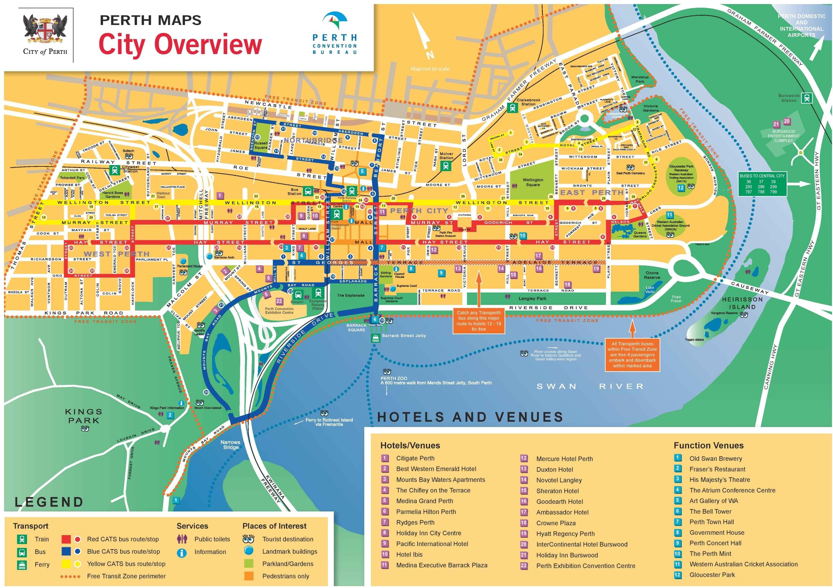 Perth Maps   Australia   Maps Of Perth in Map Of Perth Australia Suburbs