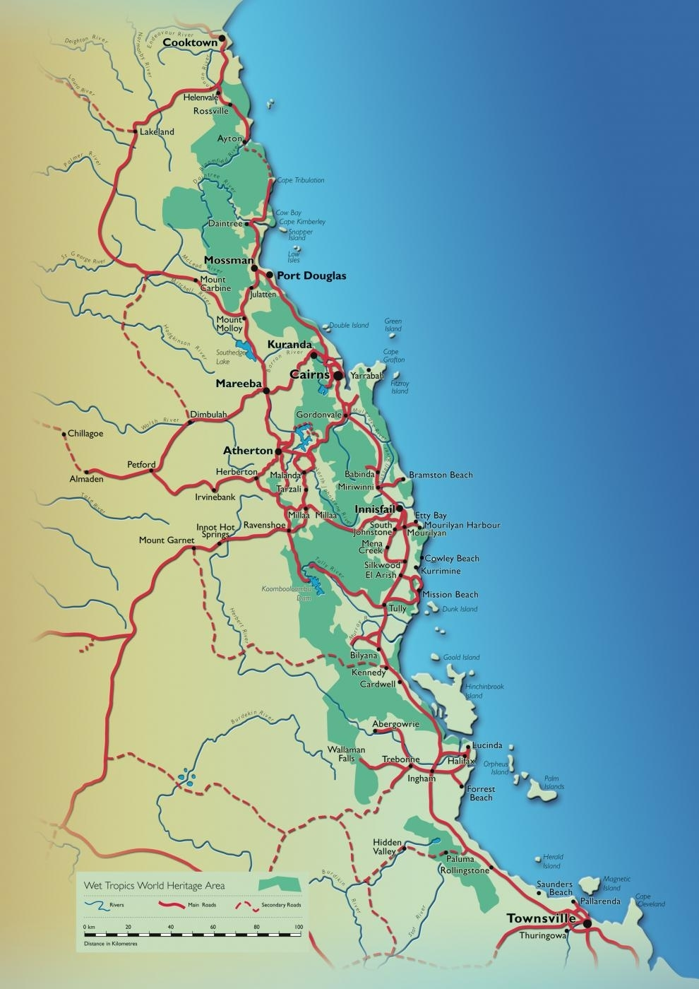 World Heritage Area Maps | Wet Tropics Management Authority within Cairns Australia Map Google Earth