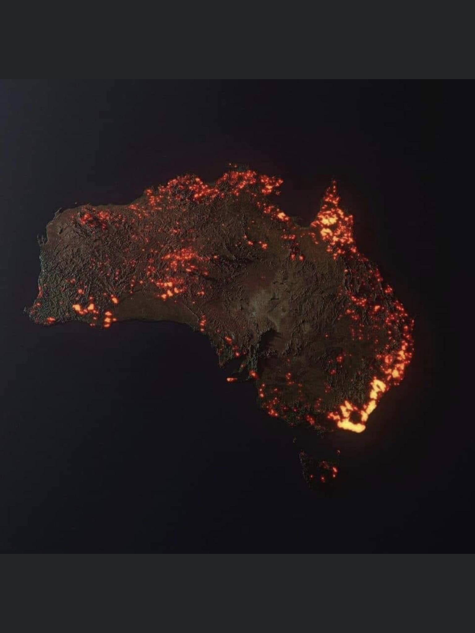 "3D ""Visualisation"" Of The Fires In Australia, Made From Nasa in Nasa Fire Map Australia Fake"