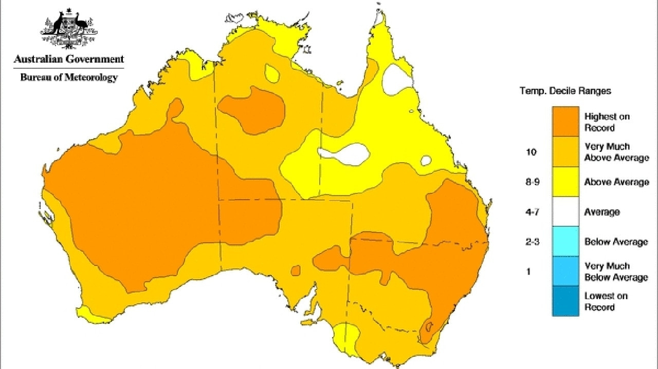 According To The Bom, 2019 Was Australia's Warmest Year In regarding Australia Fire Map Bom