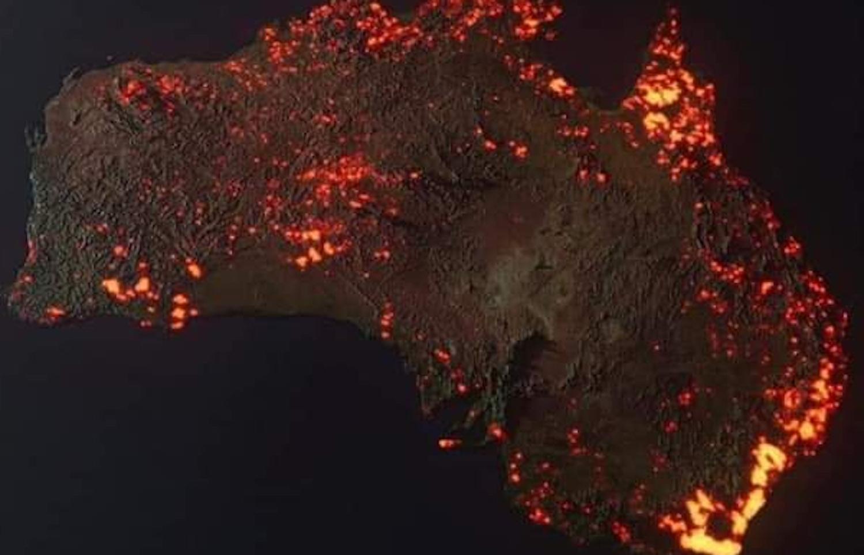 Australia Burning Satellite Photo - Big Think regarding Australia Fires Map Vs Train