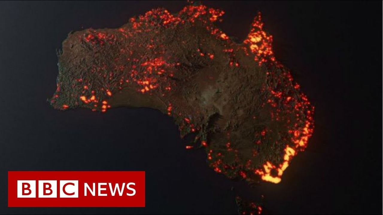 Australia Fires: Misleading Maps And Pictures Go Viral - Bbc News in Australia Fire Map At Night