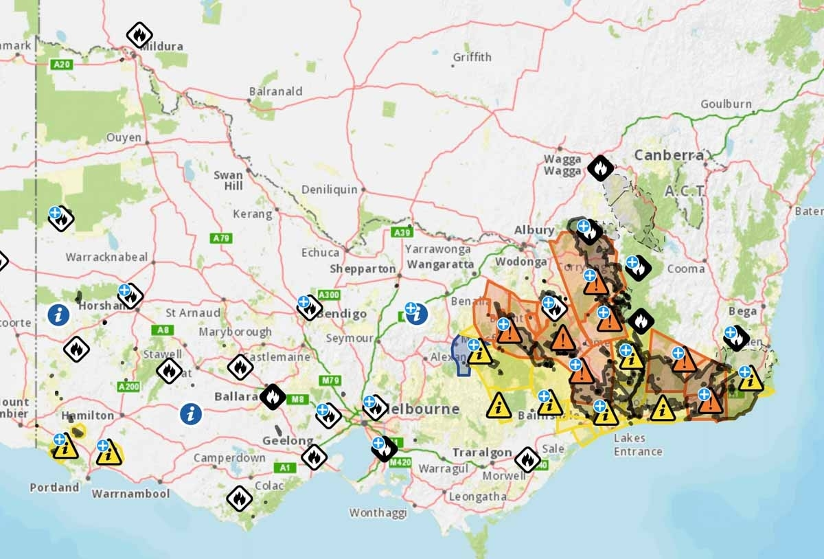 Mapping Archives - Wildfire Today for Australia Fires Map Vs Train