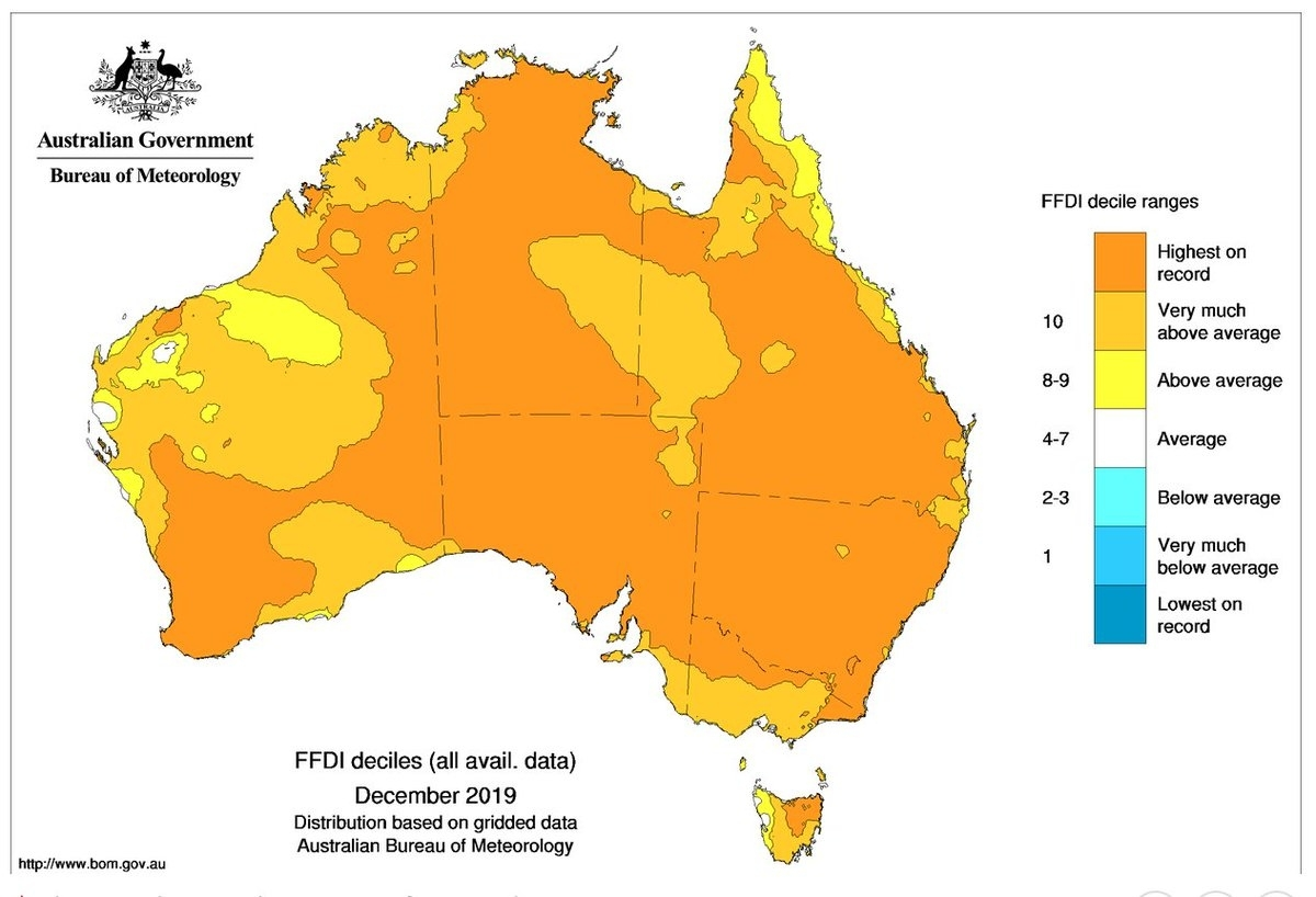 "Stefan Rahmstorf On Twitter: ""there Have Been Record inside Australia Fire Map Bom"