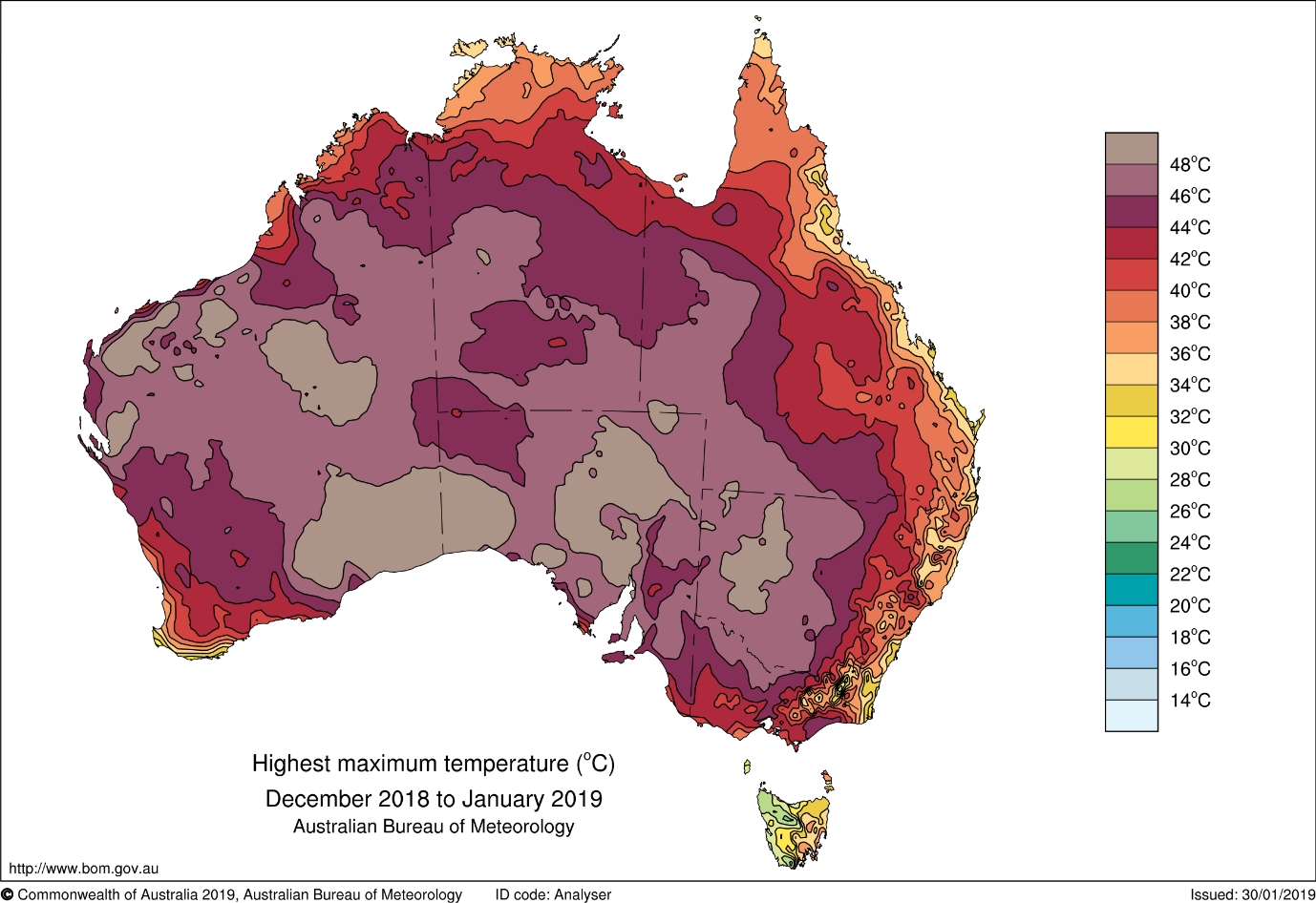 Summer 2019 Sets New Benchmarks For Australian Temperatures in Australia Fire Map Bom