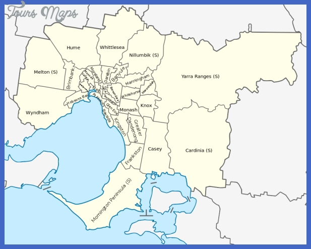 Australia Metro Map - Toursmaps inside Melbourne Metropolitan Area Map Lockdown