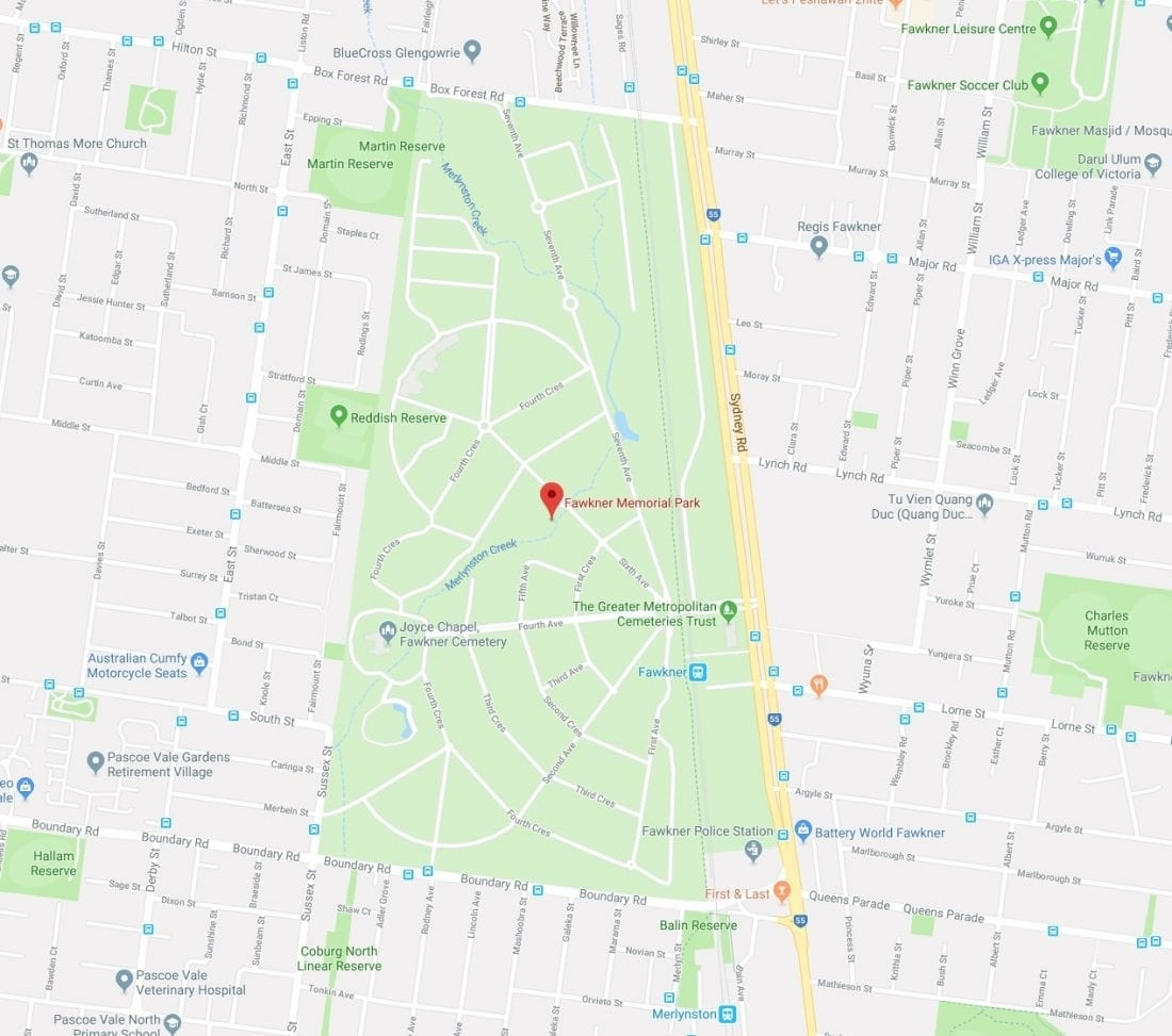 Fawkner Cemetery Map   Gadgets 2018 with Melbourne Greater Metropolitan Area Map