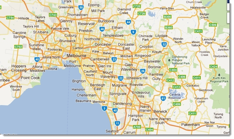 Map Of Melbourne - Travelquaz regarding Melbourne Metropolitan Area Map Lockdown