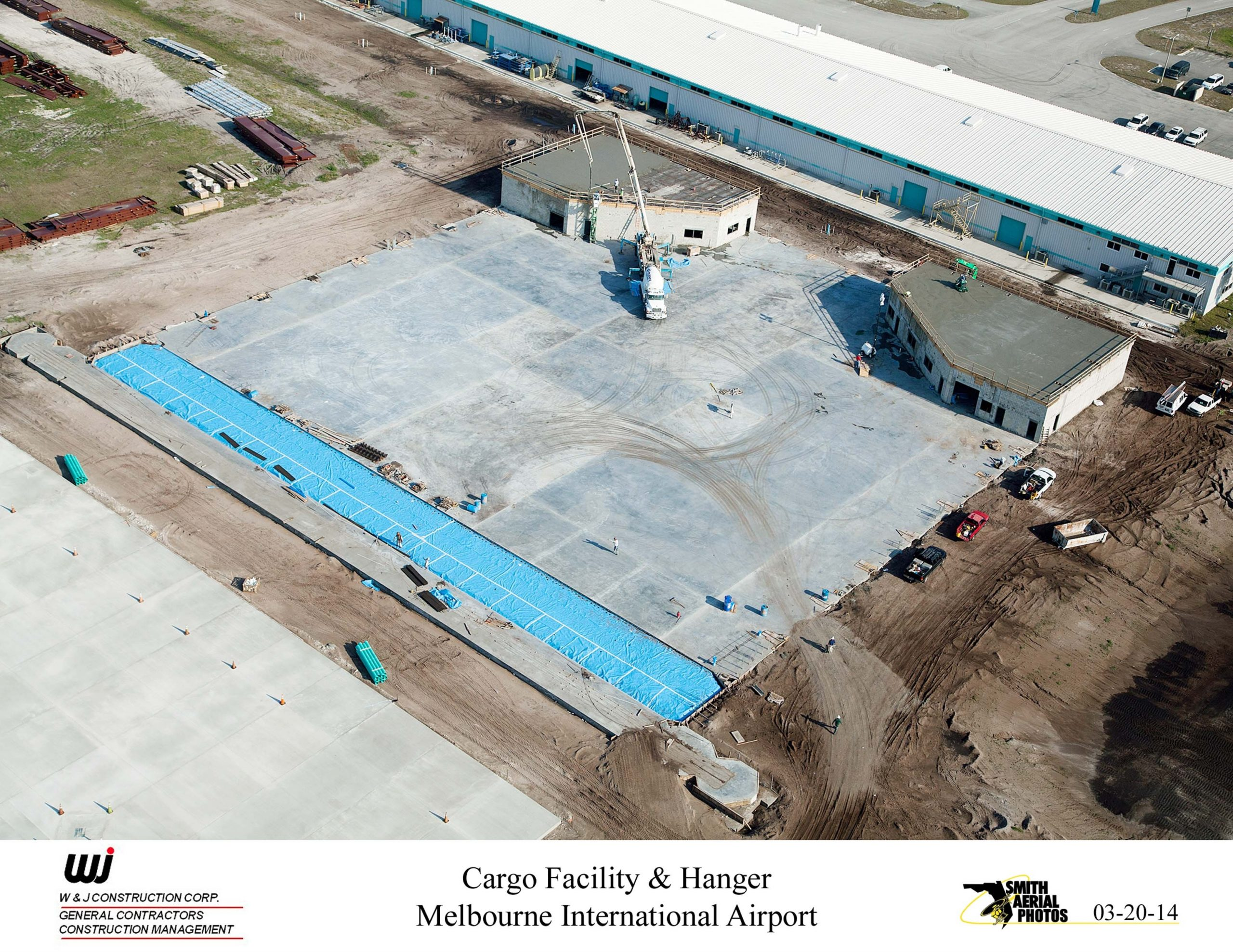 Melbourne Airport Cargo Facility & Hangar - W+J Construction intended for Trs Facility Melbourne Airport Map