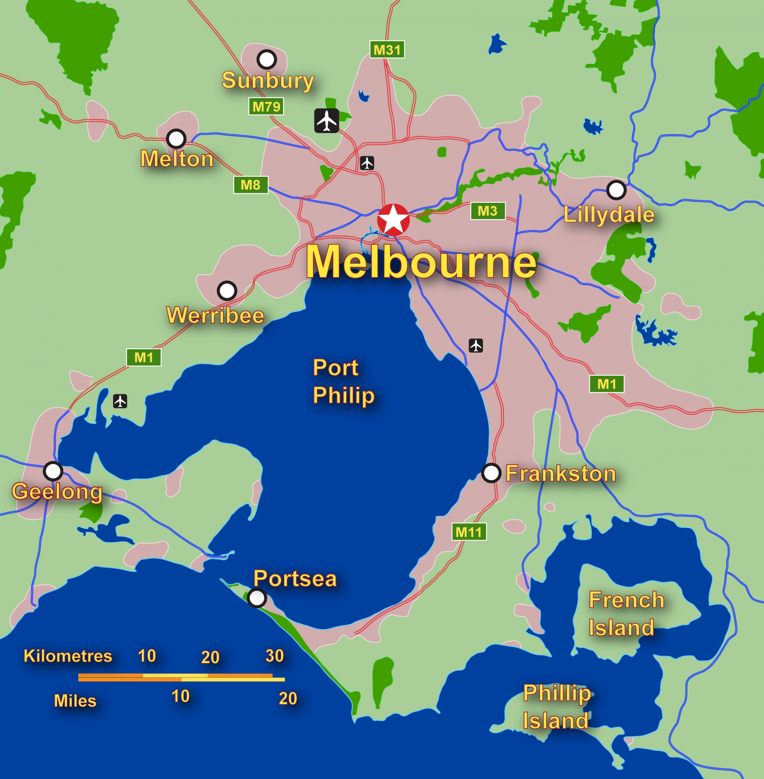 Melbourne Map ~ World Of Map intended for Australia Map With Cities Melbourne