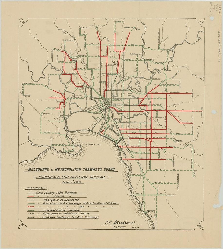 Melbourne & Metropolitan Tramways Board Proposals For Gene throughout Melbourne Metropolitan Area Boundary Map