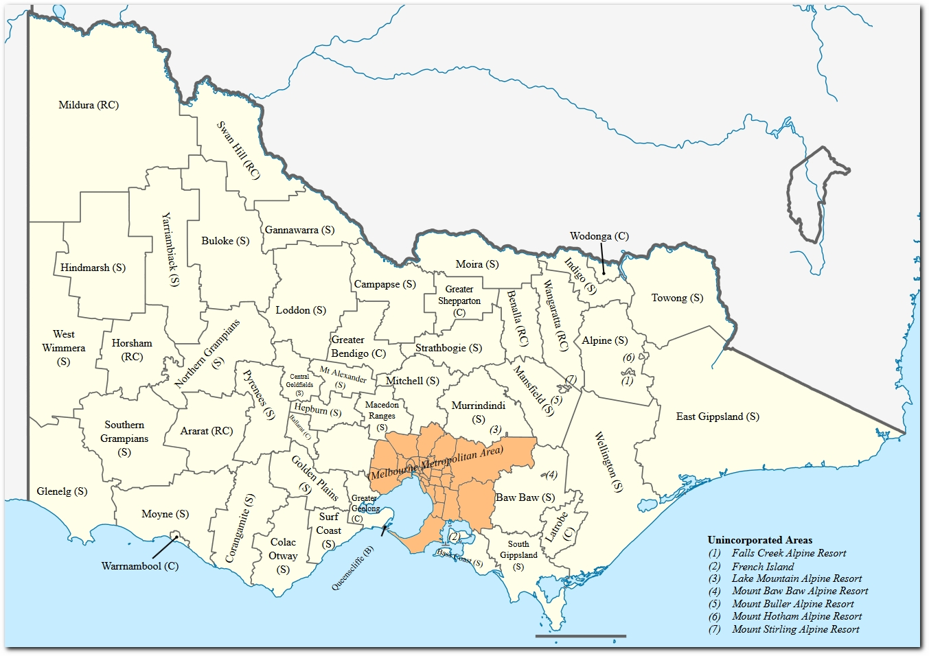 Metropolitan Melbourne – Propertydata with regard to Melbourne Greater Metropolitan Area Map