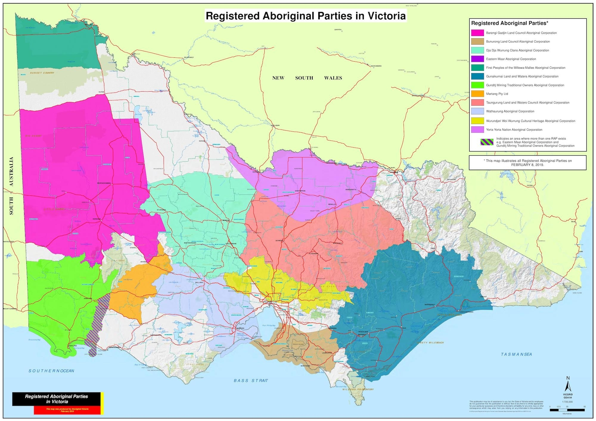 Registered Aboriginal Parties Map - Maggolee within Melbourne Local Government Area Map