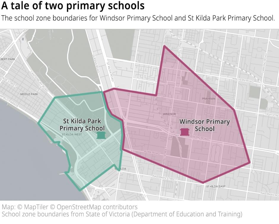 Salsa Digital: Open Data Insights #2: Victorian School Zones regarding Melbourne Metropolitan Area Boundary Map