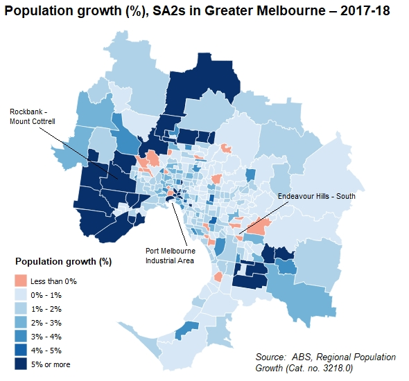 The Demog Blog: 35 Melbourne Suburbs Are Growing5% Per within Melbourne Greater Metropolitan Area Map
