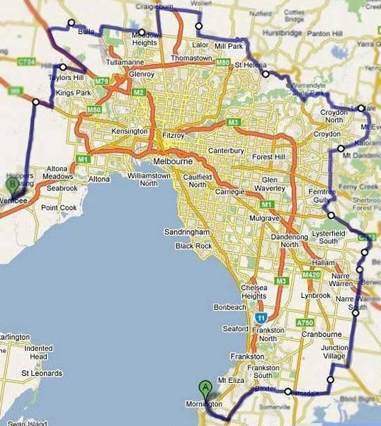 Vic Pallets Transport within Melbourne Metropolitan Area Map Lockdown