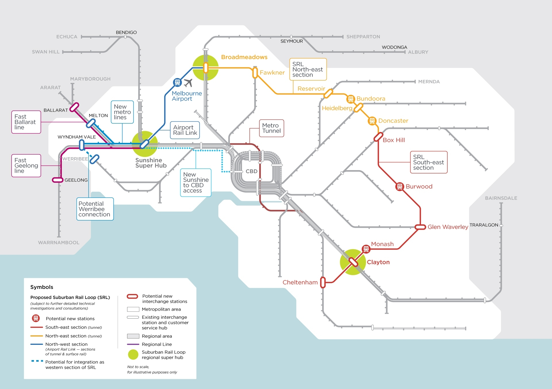 Victoria'S Big Build - Western Rail Plan throughout Melbourne Metropolitan Area Map 2018