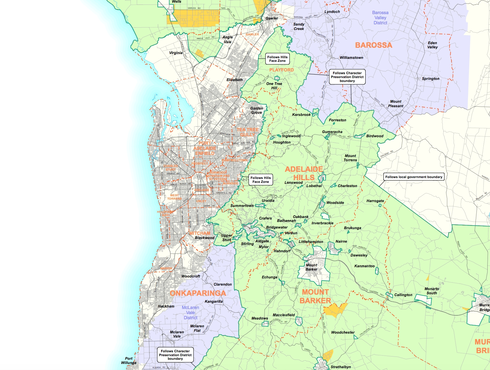 Why Capping Adelaide'S Urban Sprawl Is Good For Everyone with Melbourne Local Government Area Map